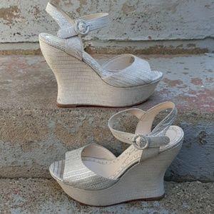 Alice + olivia jana wedge shoe.